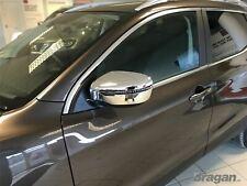 Specchio Cromato Cover Per Nissan Qashqai 2014+Lucido 4x4 Accessori 2 Pezzi Set