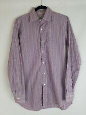 Etro men 40 button up shirt long sleeve striped career