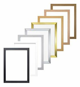 Rainbow Colour Range Picture Frame Photo Frame Poster Frame Silver Gold Oak