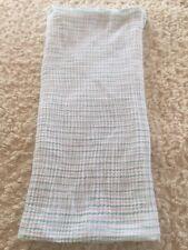 Aden Anais Teal White Stripes Swaddle Blanket
