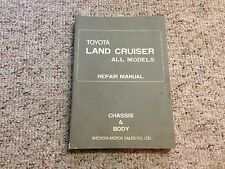 1972-1974 Toyota Land Cruiser FJ40 FJ55 Chassis Body Service Repair Manual 1973