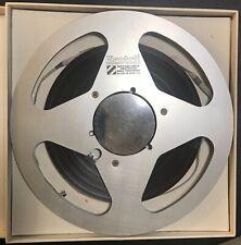 "Reel To Reel Tape 10.5 inch SONY TAPE on METAL SCOTCH REEL in TEAC Box R2R 1/4"""