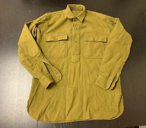 "WW1 U.S. Army Doughboy Olive Drab Wool Shirt Reproduction, 40"" chest"