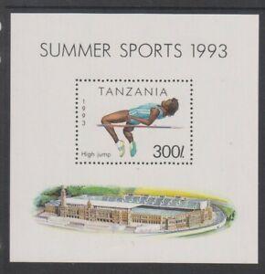 Tanzanie - 1993, SPORTS, Haute Jump, Athlétisme Feuille - MNH - Sg MS1513
