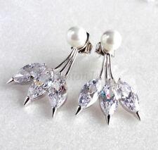 Orecchini di bigiotteria pendenti in ottone di pietra principale perla (imitazione)