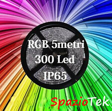 5M Striscia led smd 5050 RGB impermeabile MULTICOLORE strip led luce rgb 5metri