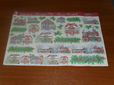 papier voile pour découpage technique serviette (chalet enneigé) 48X33,5cm