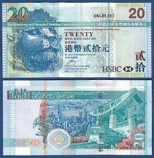 HONGKONG / HONG KONG  20 Dollars 2009  UNC  P.207 f