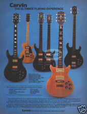 CARVIN GUITAR PINUP AD vtg 80's electric