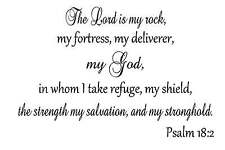 The Lord is my rock Vinyl Wall Decal Stickers Decor Letters Art Religious God