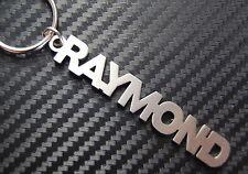 RAYMOND Personalised Name Keyring Keychain Key Fob Bespoke Stainless Steel Gift