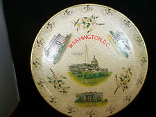 "Vintage Alcohol-Proof Trays Washington D.C. Made in Japan 11"" Diameter"