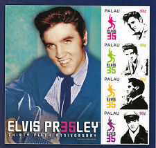 Palau 2012 MNH Elvis Presley 35th Anniversary 4v M/S I King Rock Roll