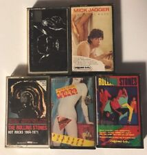 The Rolling Stones & Mick Jagger Cassette Tape Lot Of 5