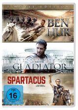 3 DVDs * BEN HUR / GLADIATOR / SPARTACUS   KIRK DOUGLAS # NEU OVP +