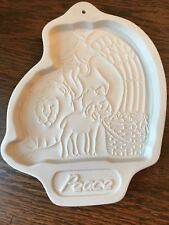 "1993 Longaberger Pottery, ""Peace"", Cookie Mold Of Angel Series Spring/Easter"