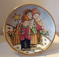 "V Tiziano  Collector Christmas Plate - "" The Carolers """