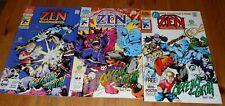 1x 1992 ZEN Intergalactic Ninja - # 1 2 3 - Complete Series Run - Archies Series
