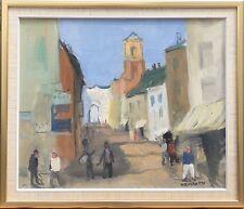 AXEL HAMBORN (SCHWEDEN 1892-1987) SÜDLICHE STRASSENSZENE MIT PERSONEN & ESEL