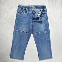 Womens LEVIS 712 Slim Fit Stretch Jeans Size W26 L32 Light Denim Tapered Skinny