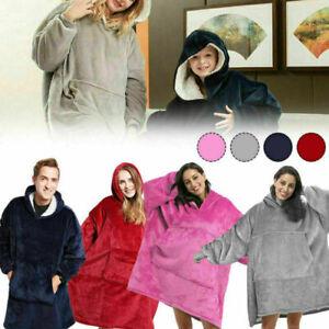 Oversized Hoodie Reversible Blanket Ultra Plush Sherpa Giant Sweatshirt Blanket