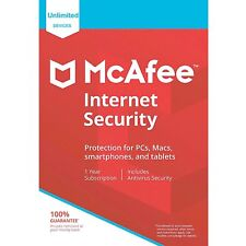 MCAFEE INTERNET SECURITY 2018 - UNLIMITED DEVICES (3 pc, 5 pc, 10 pc) - DOWNLOAD