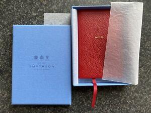 Smythson Red Leather Notebook
