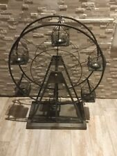 New Handcrafted Metal Industrial Ferris Wheel Candle Holder