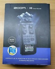 More details for zoom h6 portable audio recorder black edition brand new + mic + cubase + wavelab