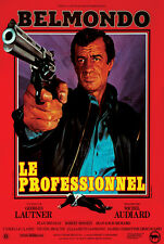 Le Professionnel 1981 Jean Paul Belmondo The Professional movie poster print