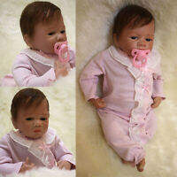 46cm Bebe Reborn Silicone Real Lifelike Baby Doll Toddler with Clothes Xmas Gift
