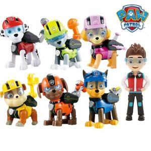 7pcs/set Paw Patrol Toys Dog Can Deformation Toy Captain Ryder Pow Patrol Psi