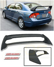For 06-11 Civic Sedan Mugen RR Rear Trunk Lid Wing Spoiler With Red Emblems Pair