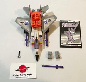 Starscream w/ Booklet Complete G2 Transformers Figure