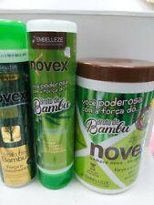 Novex Bamboo Sprout Kit Shampoo+Conditioner+ Mascara 1kg Brazilian new hair