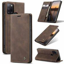 Handyhülle für Samsung Galaxy A21s Schutztasche Case Cover Wallet Schale Braun