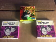 3 Vintage Super 8 Movies Charlie Chaplan And Laurel And Hardy