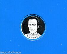 KICA - Sorprese Decalcomania Figurina-Sticker anni 60 - SUAREZ SCUDETTO METALLO
