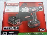 """Craftsman 5734 1/2"""" Drive C3 19.2V Li-lon 2-Speed Hammer Drill Kit - p/n 51099"""