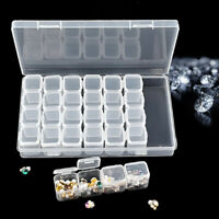 28 Individual Slot Empty Storage Container Box Case for Nail Art Rhinestone Gems