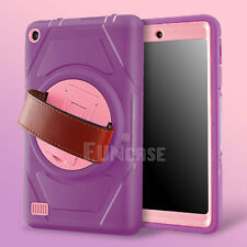Amazon Kindle Fire 7 2015 5th Generation Rugged Shockproof Hand Strap Case Cover