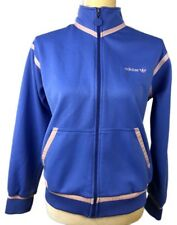RARE Vintage Adidas Womens Blue Zip Up Trefoil Logo Athletic Jacket Size M