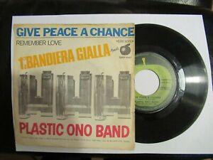 BEATLES-John Lennon-Plastic Ono Band-1°a BANDIERA GIALLA -GIVE PEACE A CHANCE