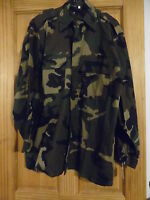 Heavyweight BDU Shirt Button Front  and Cuffs Military Surplus Austrian O.D