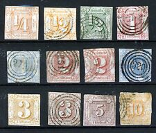 THURN & TAXIS GERMANY 1859 Full Northern District Imperforate Set SG 12 - 19 VFU