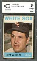 Hoyt Wilhelm Card 1964 Topps #13 Chicago White Sox BGS BCCG 8