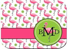 Monogram Mouse Pad Pink Flamingo Computer PC