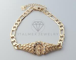 Esclava Santa Virgen CZ de Oro Laminado 18K| Gold Plated Holy Virgin CZ Bracelet