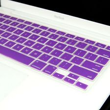 """PURPLE Silicone Keyboard Cover for Macbook White 13"""""""
