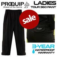 ProQuip Ladies Tour Flex Waterproof Golf Rain Trousers Black **REDUCED!**